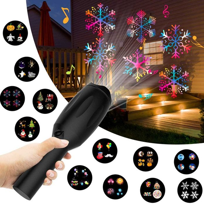 holiday light projector handheld