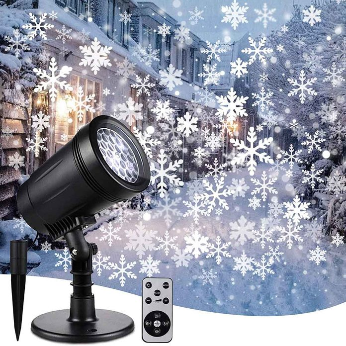 snowflake projector lights