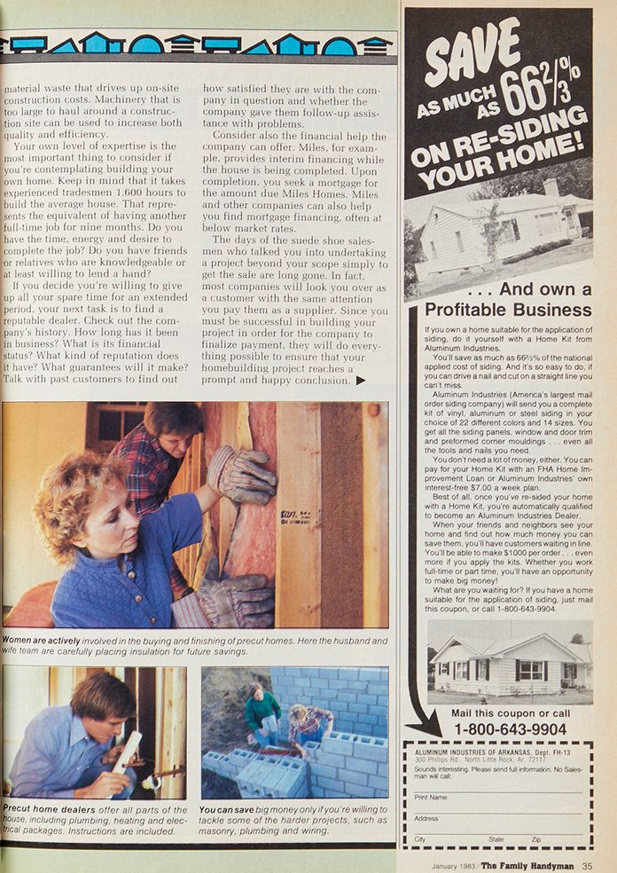 Vintage Family Handyman article about future housing