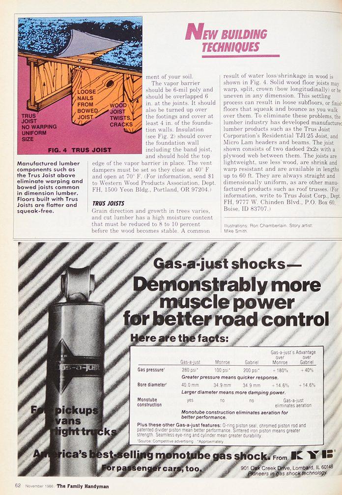 Vintage 1986 Family Handyman article on building techniques