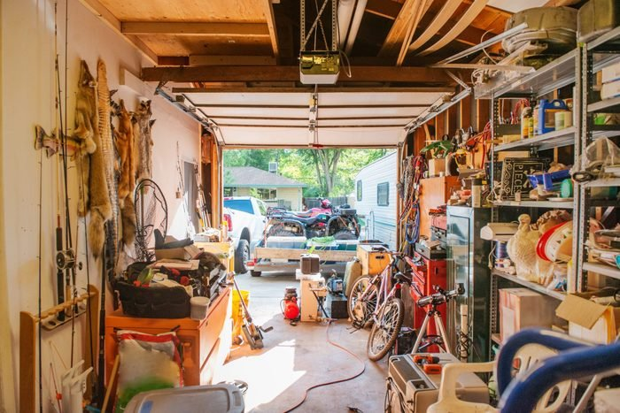 Cluttered American Garage Full of Things in Denver Colorado