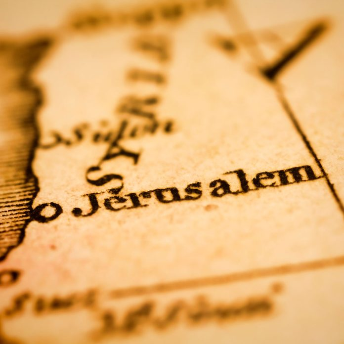 Jerusalem on an old map