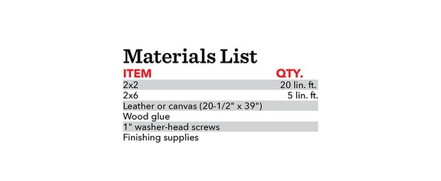 Materials list: Fh21mar 608 50 Materiallist