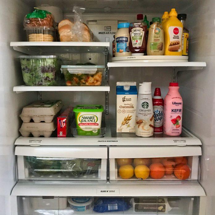 Finished fridge organization