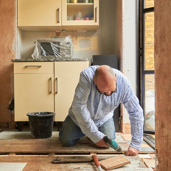 Man Doing Diy At Home