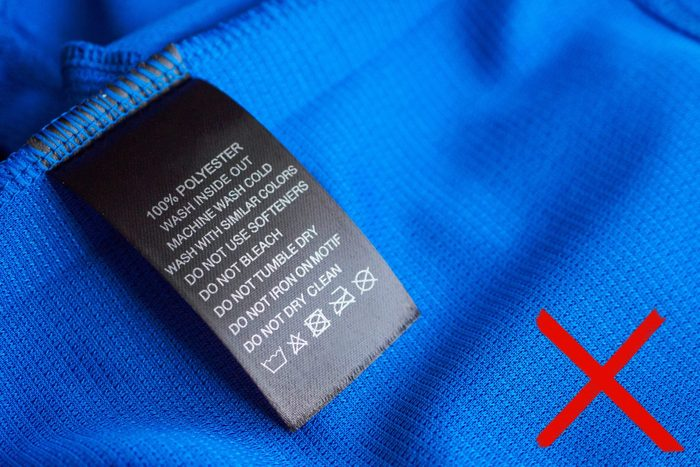 clothes fabric label