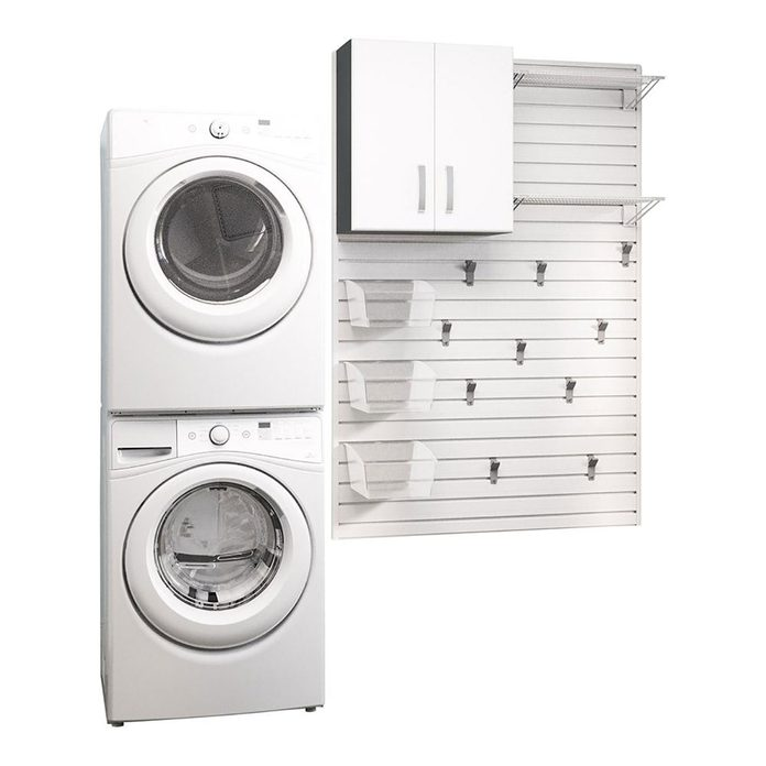 modular wall for laundry