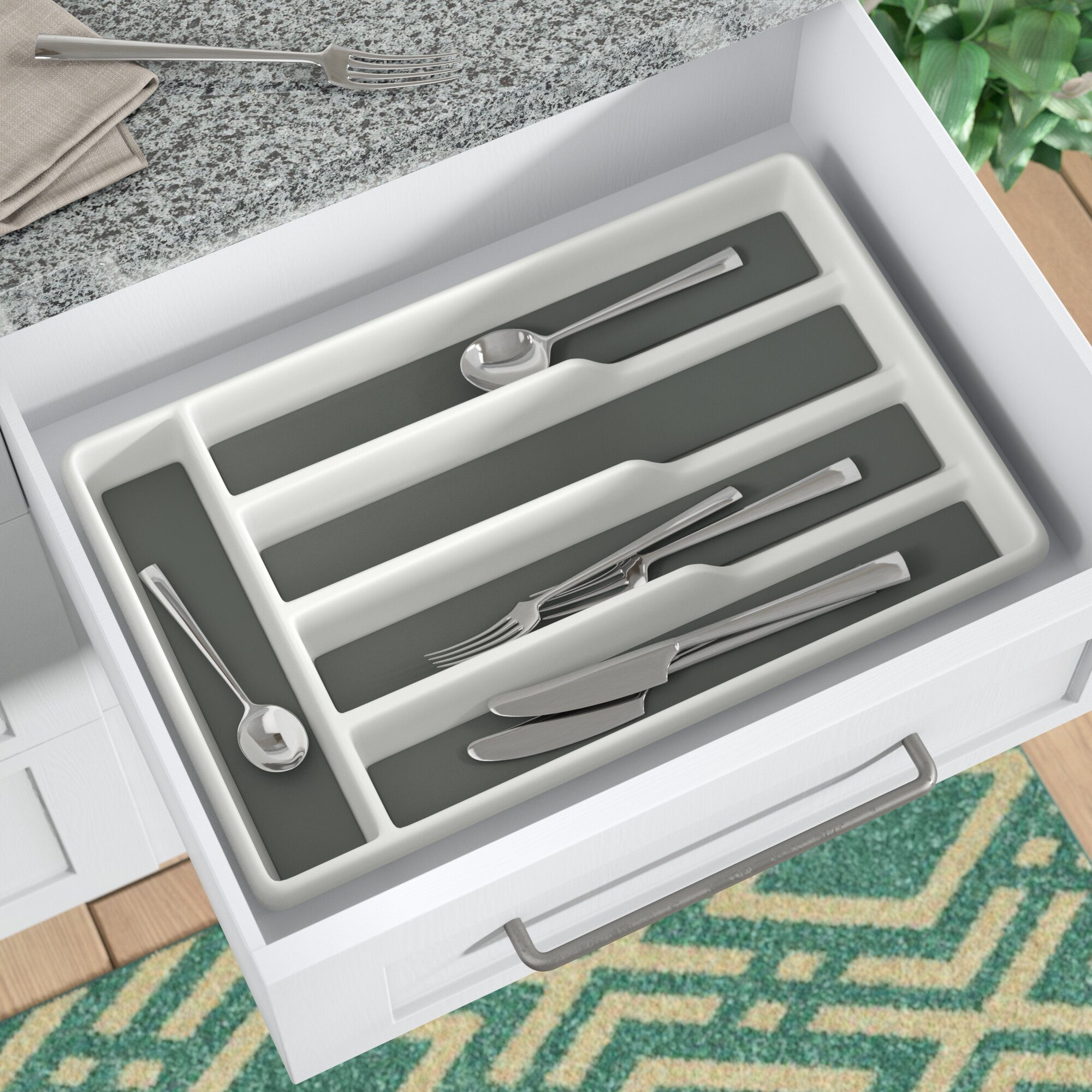 silverware organizer 1+piece+drawer+organizer+set