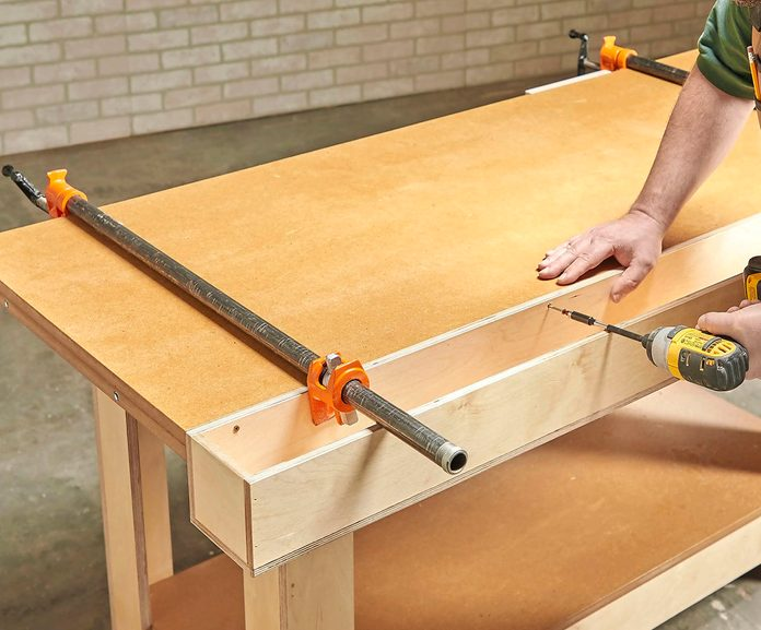 Tack on a tool tray