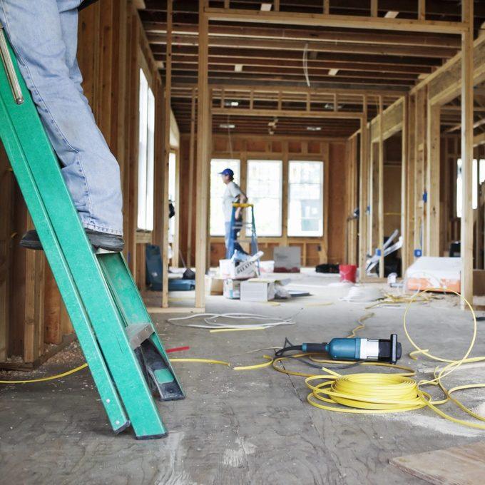 Nterior Of Home Under Construction