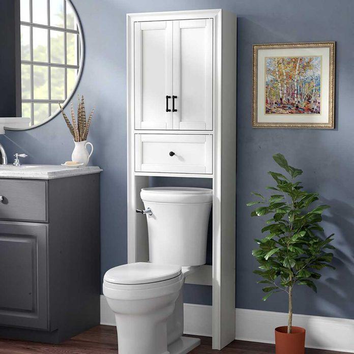 over the toilet storage