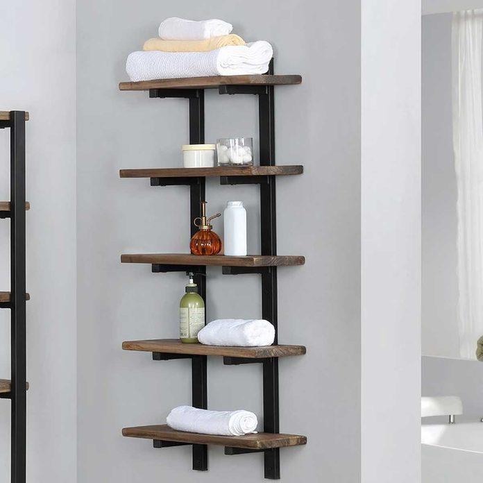 wall mounted bathroom shelf
