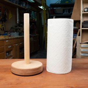 How to Make a Paper Towel Holder for Your Kitchen