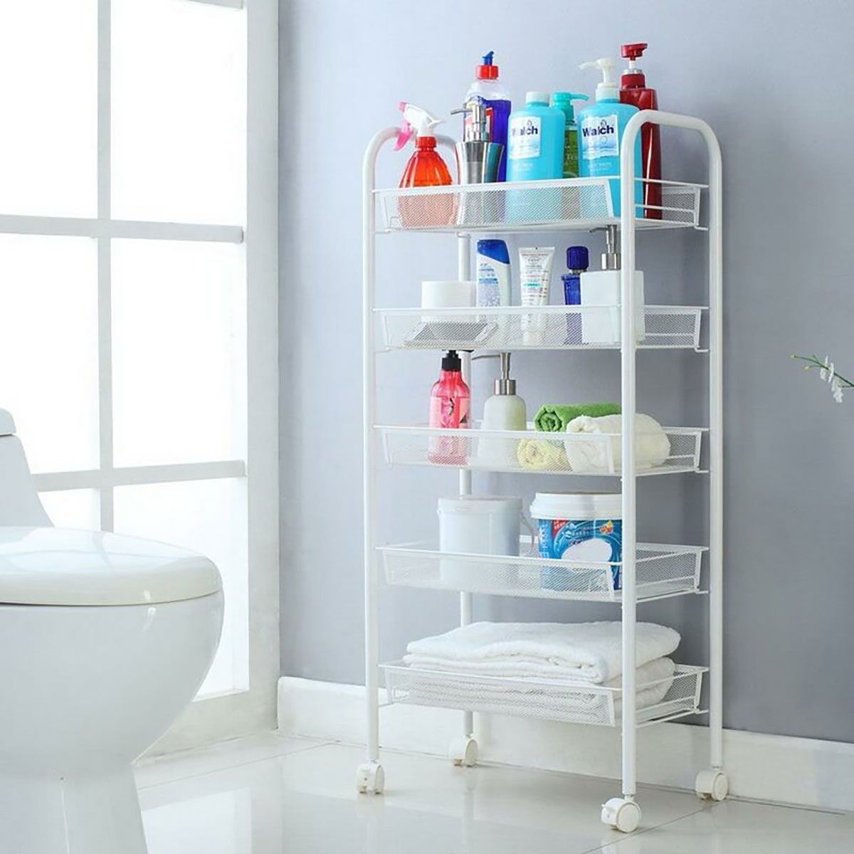Bathroom Cart Rolling+kitchen+pantry+storage+utility+cart