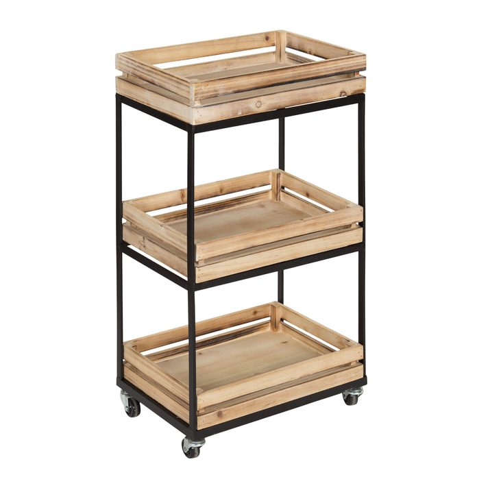 Bathroom Cart Usman+3+tiered+storage+cart+with+wheels