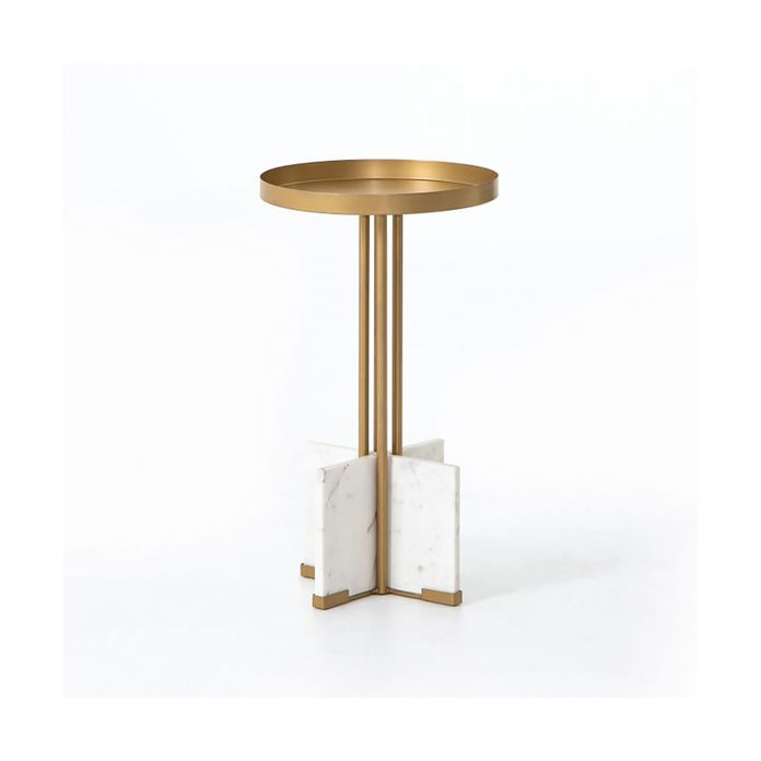 Brass Marble End Table Img11o