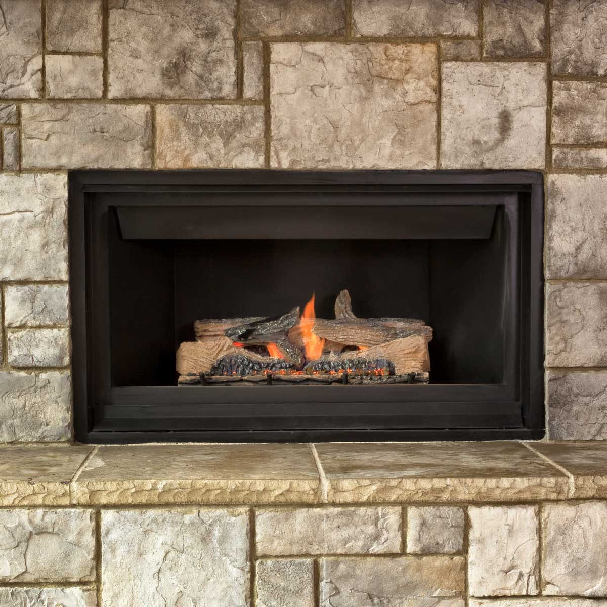 Gas Fireplace Gettyimages 616884454