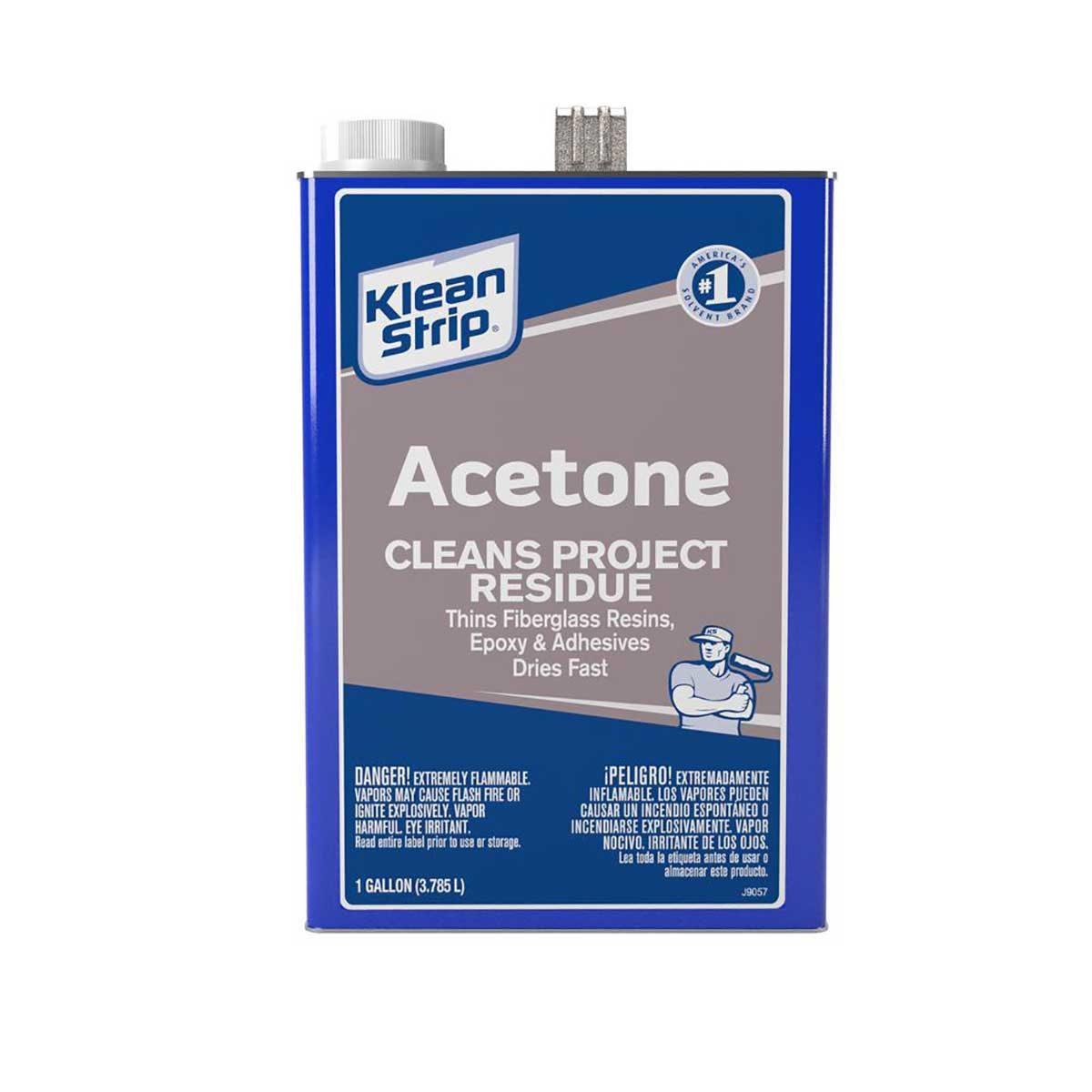 acetone klean strip