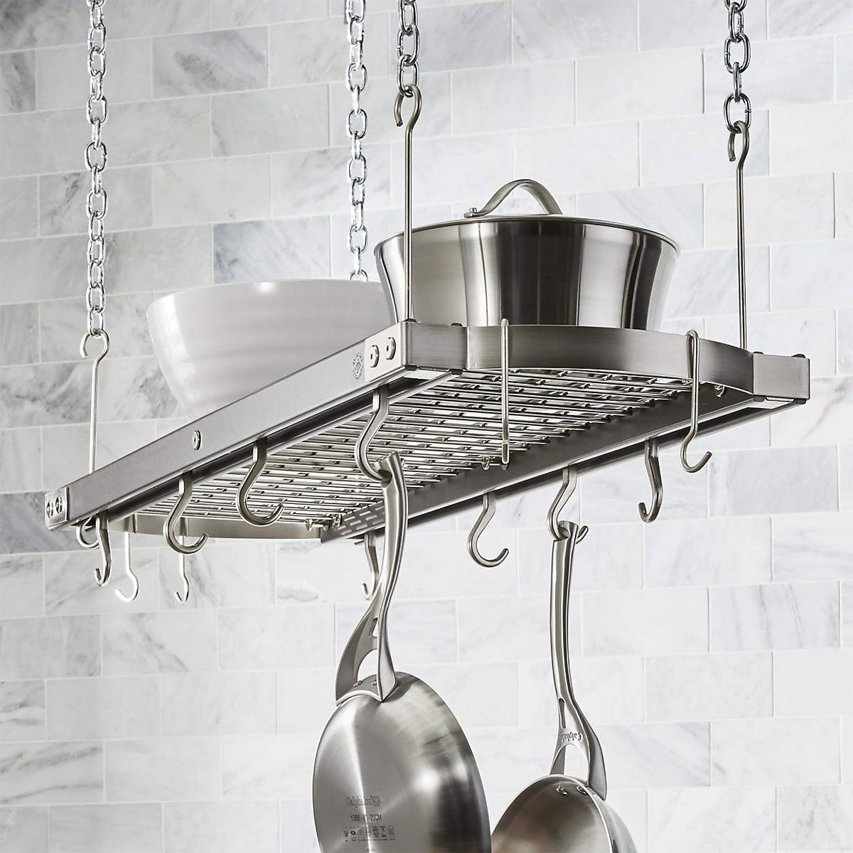 Pot Rack J.k. Adams Large Grey Ceiling Pot Rack