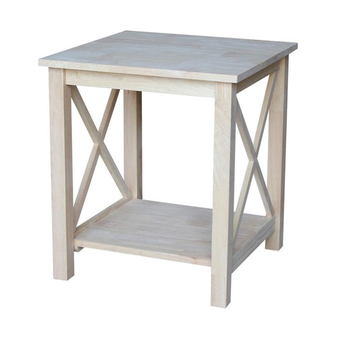 Simple Unfinished End Table Unfinished International Concepts End Tables Ot 70e 64 1000