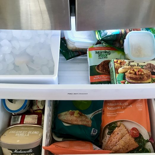 How to organize a freezer: messy freezer