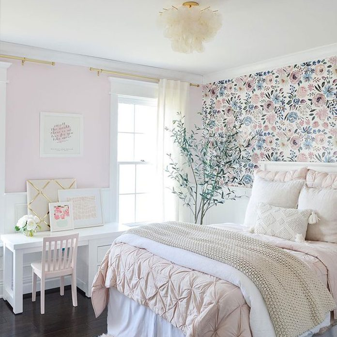 Pink and blue Kids Room