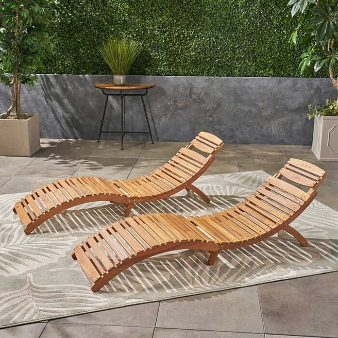 Outdoor Folding Chair Nannette+chaise+lounge