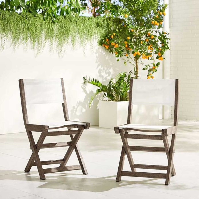 Outdoor Folding Chair Portside Outdoor Folding Textilene Bistro Chair O