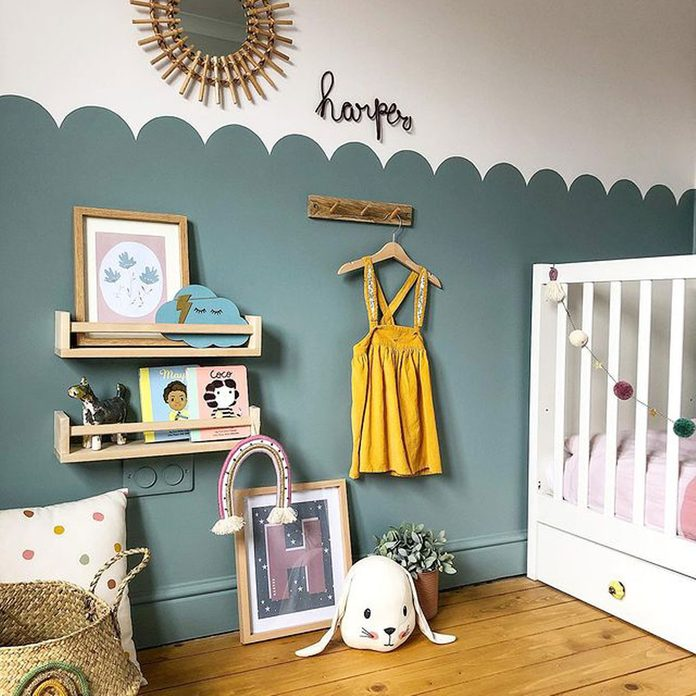 Scalloped Wall Kids Room