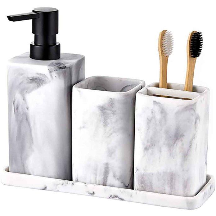 bathroom accessory holder set