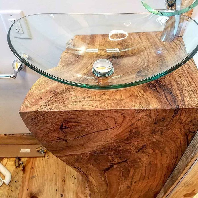 wood vanity
