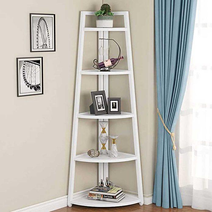 corner ladder shelf