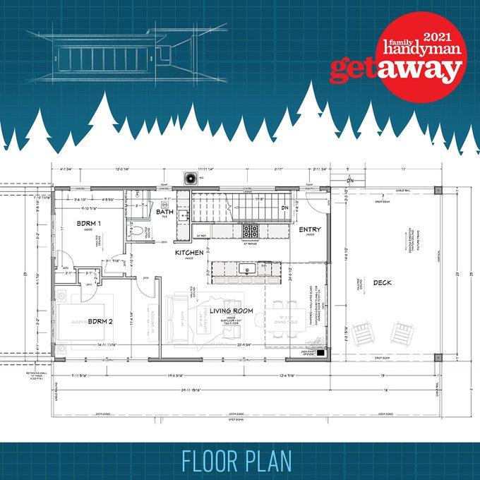 Final floorplan for Family Handyman Getaway 2021