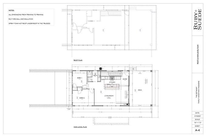 Getaway Main Level Blueprint