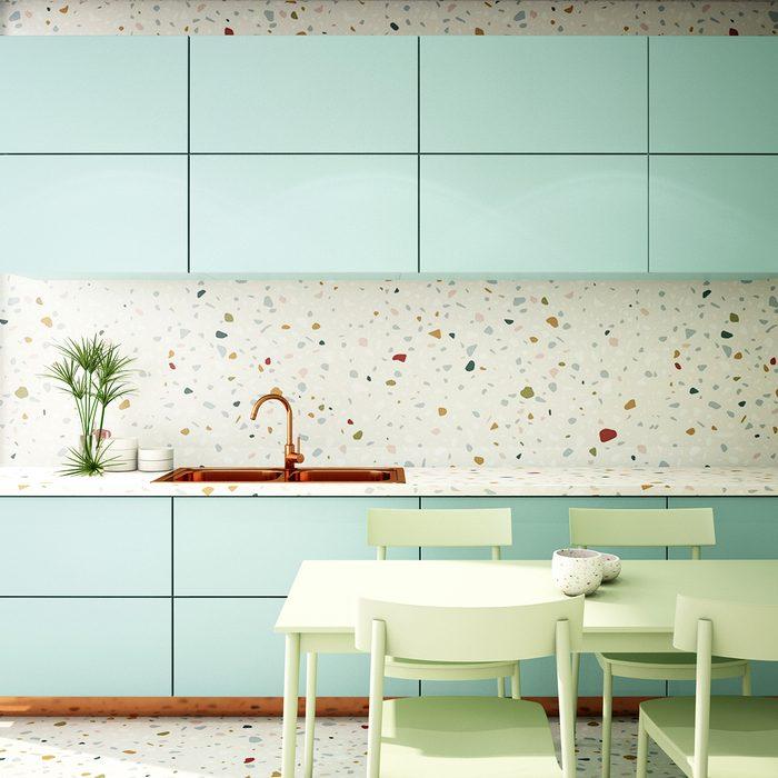 Kitchen Interior Design With Terrazzo