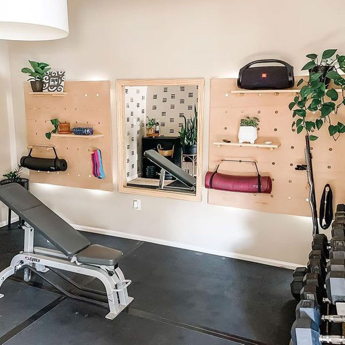 Home Gym Pegboard