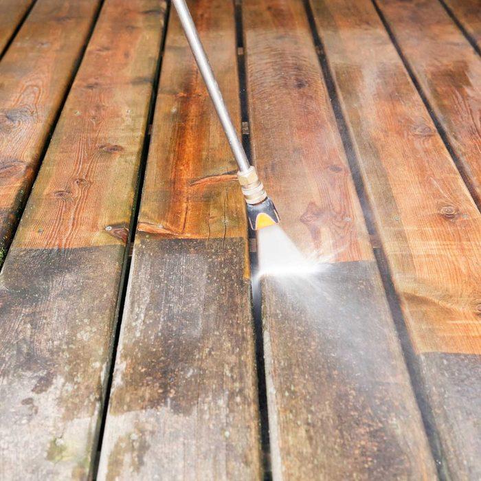Washing A Deck