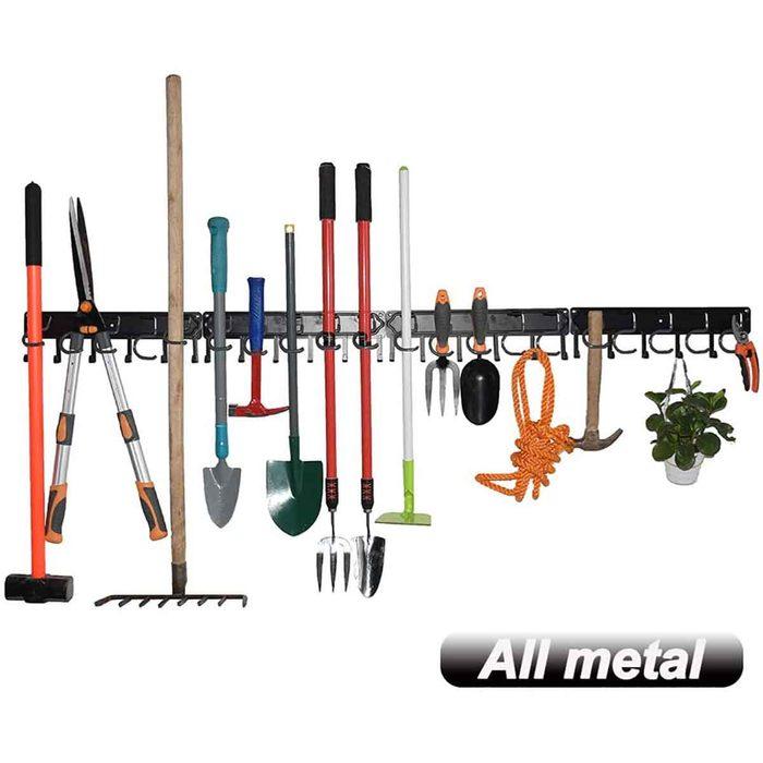 metal garden tool organizer