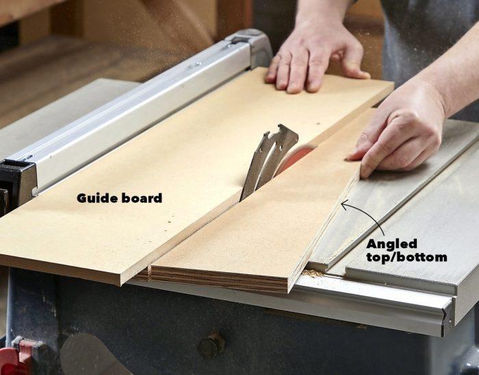 Cut cabinet parts