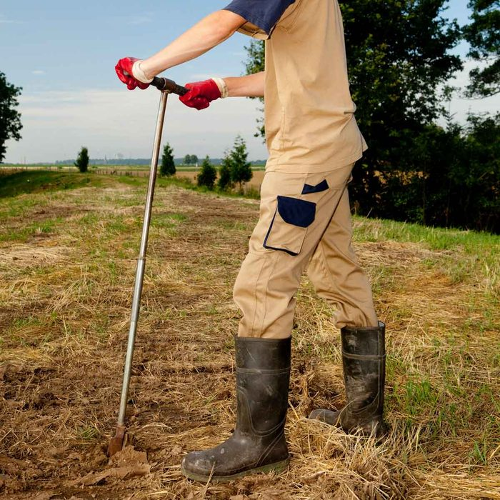 Digging a Perc Test Hole