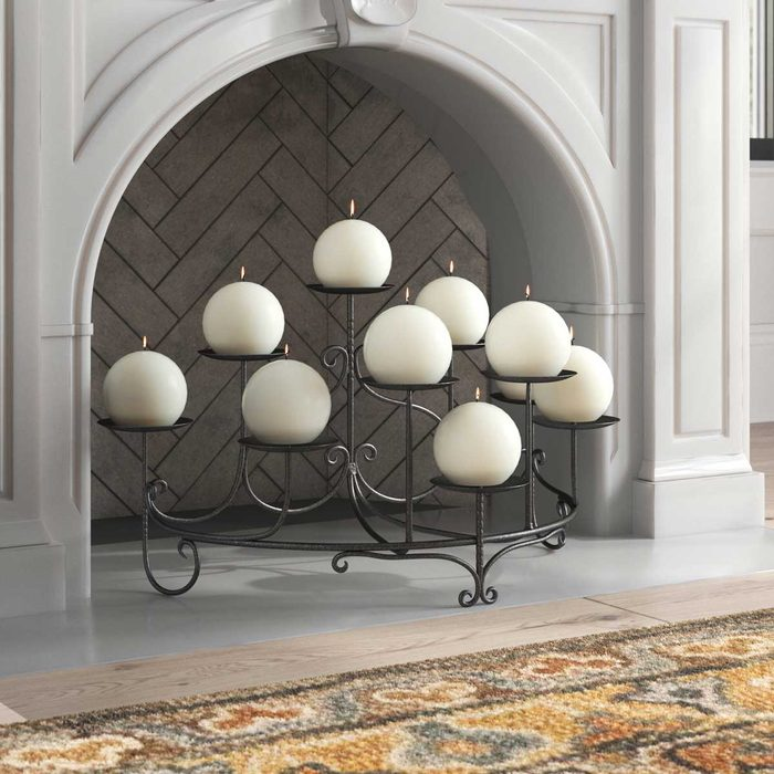 Fireplace Screen Candles
