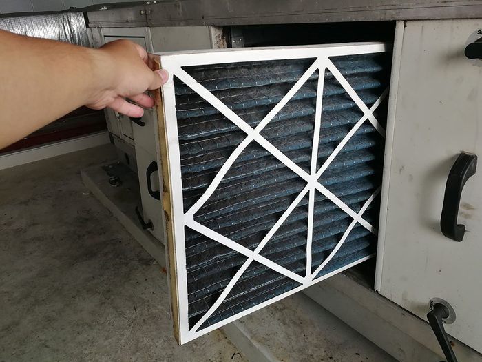 taking out furnace filter