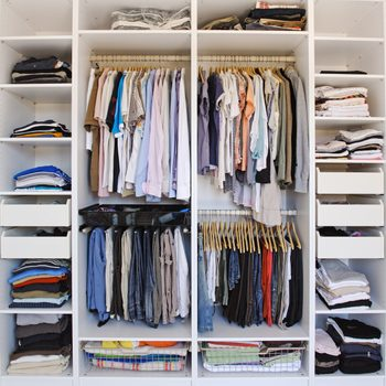 organized home closet right before fall