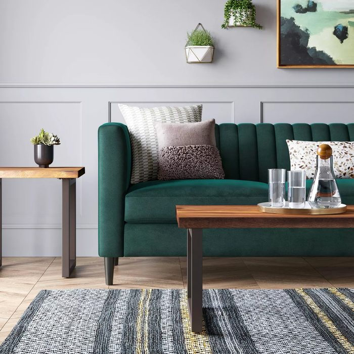 71 Calais Sofa With Channel Tufting Green