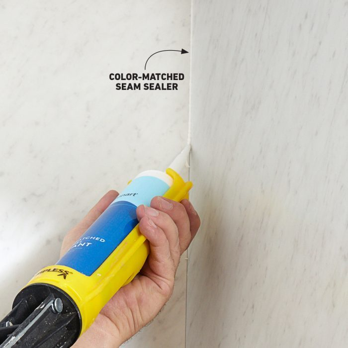 Caulking joints with a bead of seam sealer
