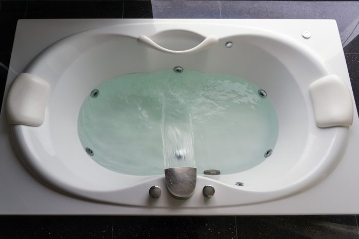 jetted bathtub from above