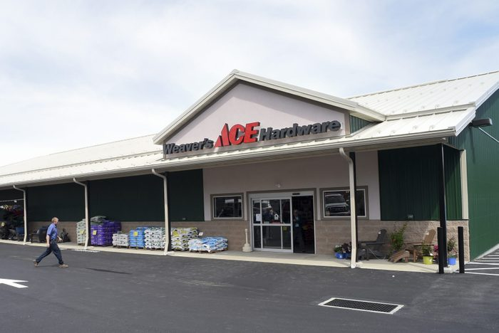new Ace hardware store facade