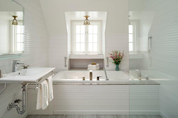 Luxury White Bathroom with drop in Bathtub
