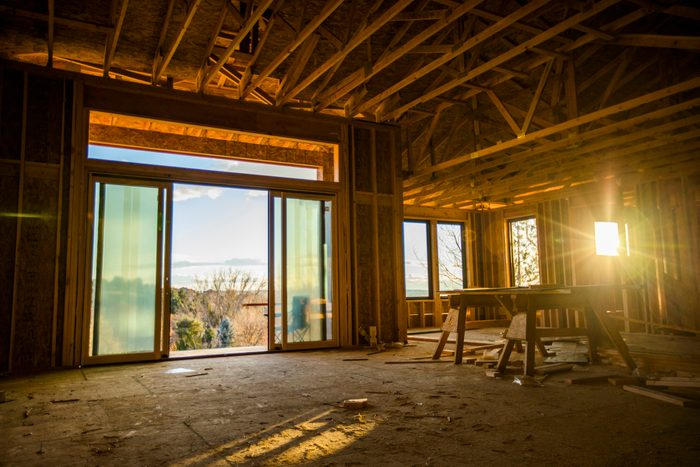 House with scenic view under construction