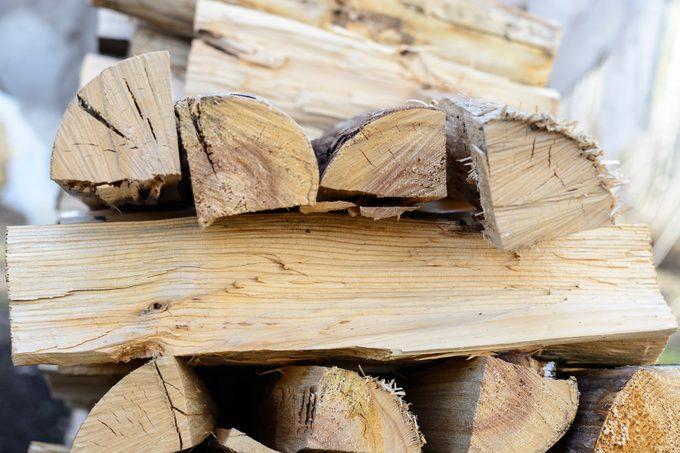 kiln dried firewood stack